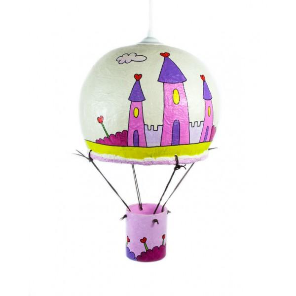 Παιδικό Φωτιστικό Οροφής Αερόστατο Πριγκιπικό Κάστρο Φωτιστικά Οροφής