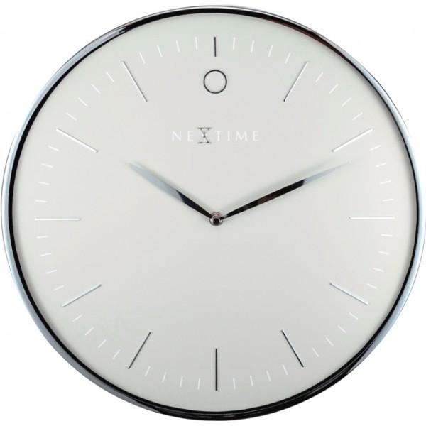 Ρολόι Τοίχου Next Time Glamour Silver 40 cm Σπίτι