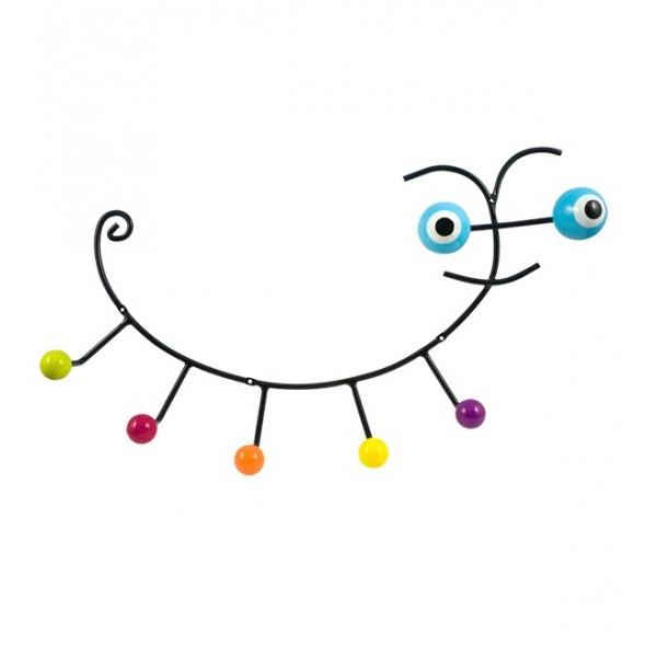 Κρεμάστρα Τοίχου Pylones Caterpillar Μπλε Παιδικές Κρεμάστρες
